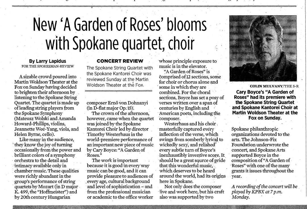 Boyce-Garden of Roses Spokesman Review